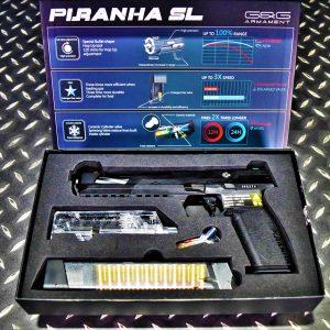 G&G 怪怪 PIRANHA SL 加長版 食人魚 GBB 競技手槍 黑色