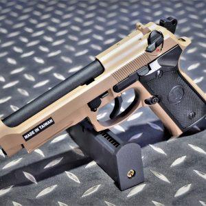KJ M9 M9A1 貝瑞塔 14逆牙 戰術導軌 GBB 瓦斯手槍 沙色 KJ-M9A1-DE