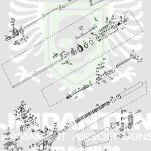 WE M16A1 (非A3版) 原廠零件 爆炸圖 零件下標區