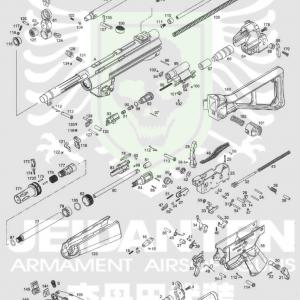 WE Apache 阿帕契 MP5 A2 MP5 PDW原廠零件 爆炸圖 零件下標區