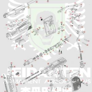WE P38 原廠零件 爆炸圖 零件下標區