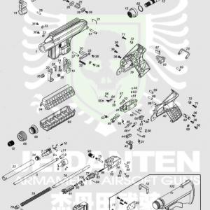 WE PLR-16 原廠零件 爆炸圖 零件下標區