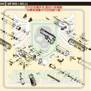 KWA/KSC QRF MOD1 AEG 電動槍 維修 原廠零件 訂購區