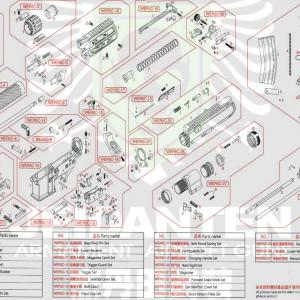 WE R5C-AIR R5C 原廠零件 爆炸圖 零件下標區