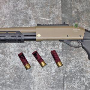 鬥牛士 MATADOR 金鷹 M870 Marui系統 三發型泵動式瓦斯霰彈槍 矮子 沙色 RNGCSG4D