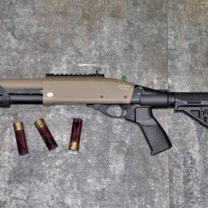 鬥牛士 MATADOR 金鷹 M870 Marui系統 三發型泵動式瓦斯霰彈槍 矮子 沙色 RNGCSG5D