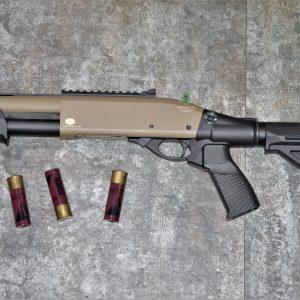 鬥牛士 MATADOR 金鷹 M870 Marui系統 三發型泵動式瓦斯霰彈槍 矮子 沙色 RNGCSG7D