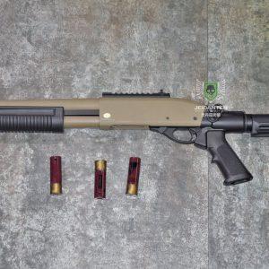 鬥牛士 MATADOR 金鷹 M870 Marui系統 三發型泵動式瓦斯霰彈槍 沙色 RNGSSG1D