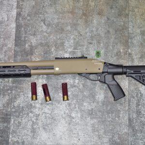 鬥牛士 MATADOR 金鷹 M870 Marui系統 三發型泵動式瓦斯霰彈槍 沙色 RNGSSG6D