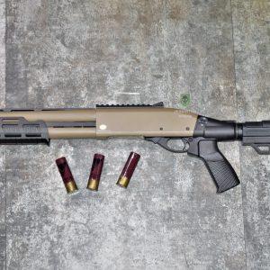 鬥牛士 MATADOR 金鷹 M870 Marui系統 三發型泵動式瓦斯霰彈槍 沙色 RNGSSG7D