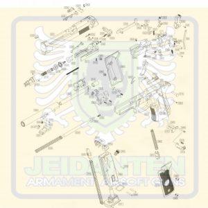 WE M92 新版 GBB 瓦斯手槍 原廠零件 爆炸圖