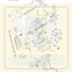 WE F17/F18/M17/M18/P320 GBB 瓦斯手槍 原廠零件 爆炸圖