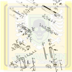 WE HI-CAPA5.1 GBB 手槍 原廠零件 爆炸圖