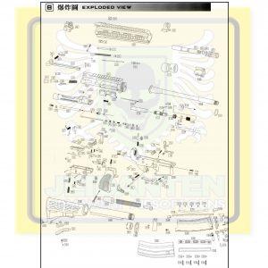 WE HK416 888 GBB 原廠零件 爆炸圖