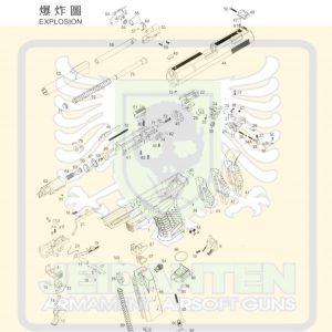 WE P99 P99C 劈玖玖 GBB 瓦斯手槍 原廠零件 爆炸圖