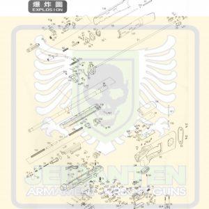 WE SVD GBB 瓦斯槍 原廠零件 爆炸圖