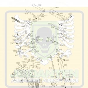WE XDM GBB 瓦斯手槍 原廠零件 爆炸圖