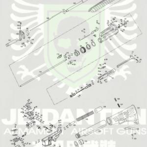 WE XM177 原廠零件 爆炸圖 零件下標區