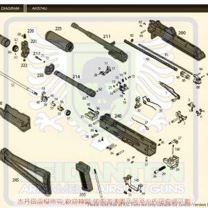 KWA/KSC AKS74U AK74U GBB 瓦斯槍 維修 原廠零件 爆炸圖 訂購區