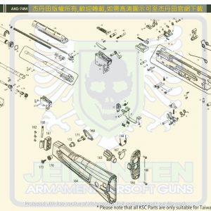 KWA/KSC AK74M GBB 瓦斯槍 原廠零件 爆炸圖