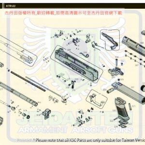 KWA/KSC KTR 03 GBB 瓦斯槍 維修 原廠零件 爆炸圖 訂購區