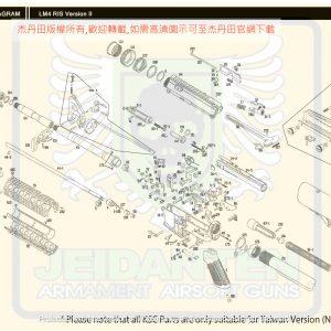 KWA/KSC M4A1 RIS V2 GBB 瓦斯槍 維修 原廠零件 訂購區 爆炸圖