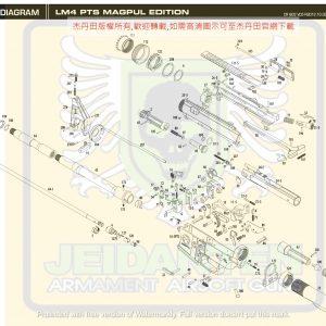 KWA/KSC LM4 PTS GBB 瓦斯槍 維修 原廠零件 爆炸圖 訂購區