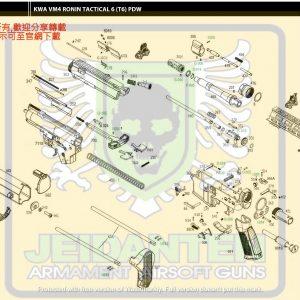 KWA/KSC 浪人系列 T6 AEG 電動槍 維修 原廠零件 訂購區