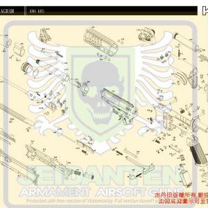 KWA/KSC M4系列 KM4 KR5 AEG 電動槍 維修 原廠零件 訂購區