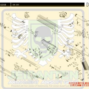 KWA/KSC M4系列 KM4 KR9 AEG 電動槍 維修 原廠零件 訂購區